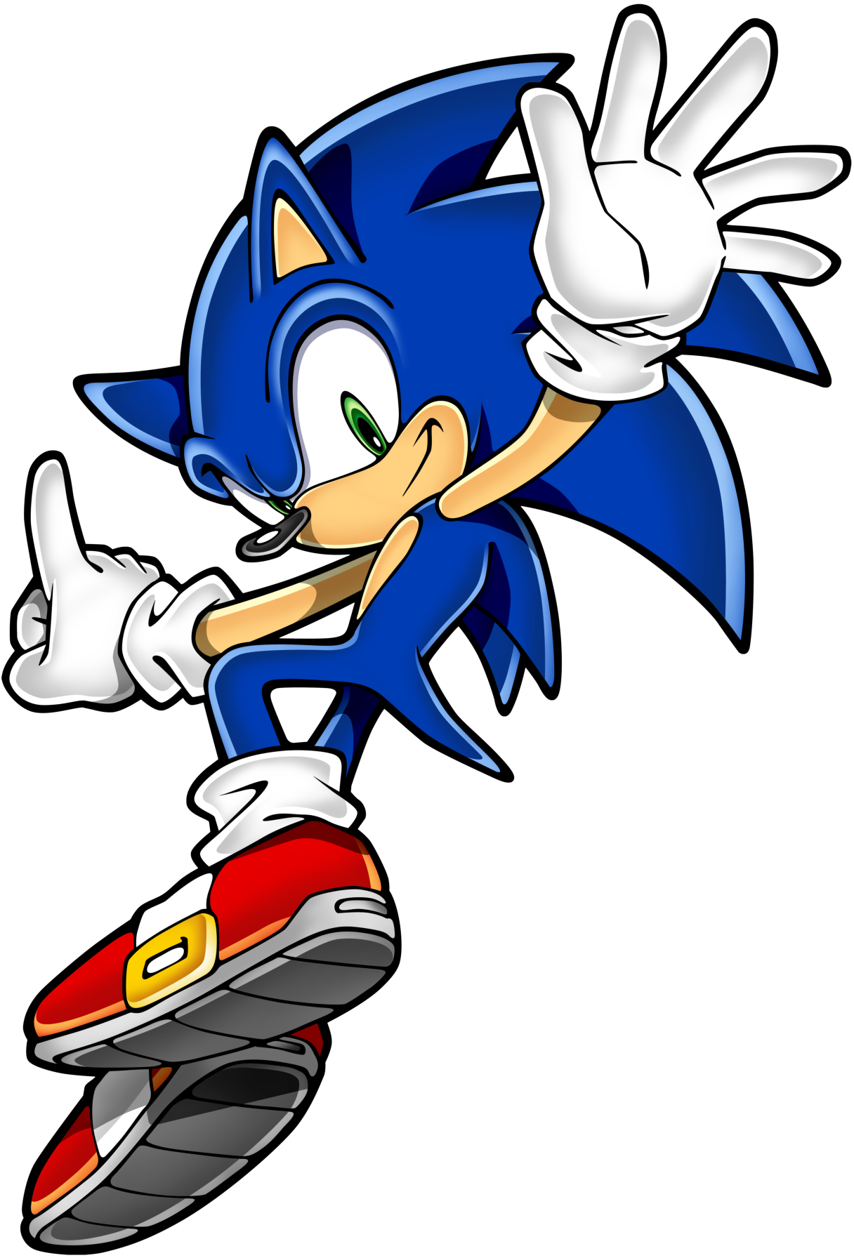 Yes, this is New Sonic rather than Old Sonic. Sue me, I prefer the art even if not the games.