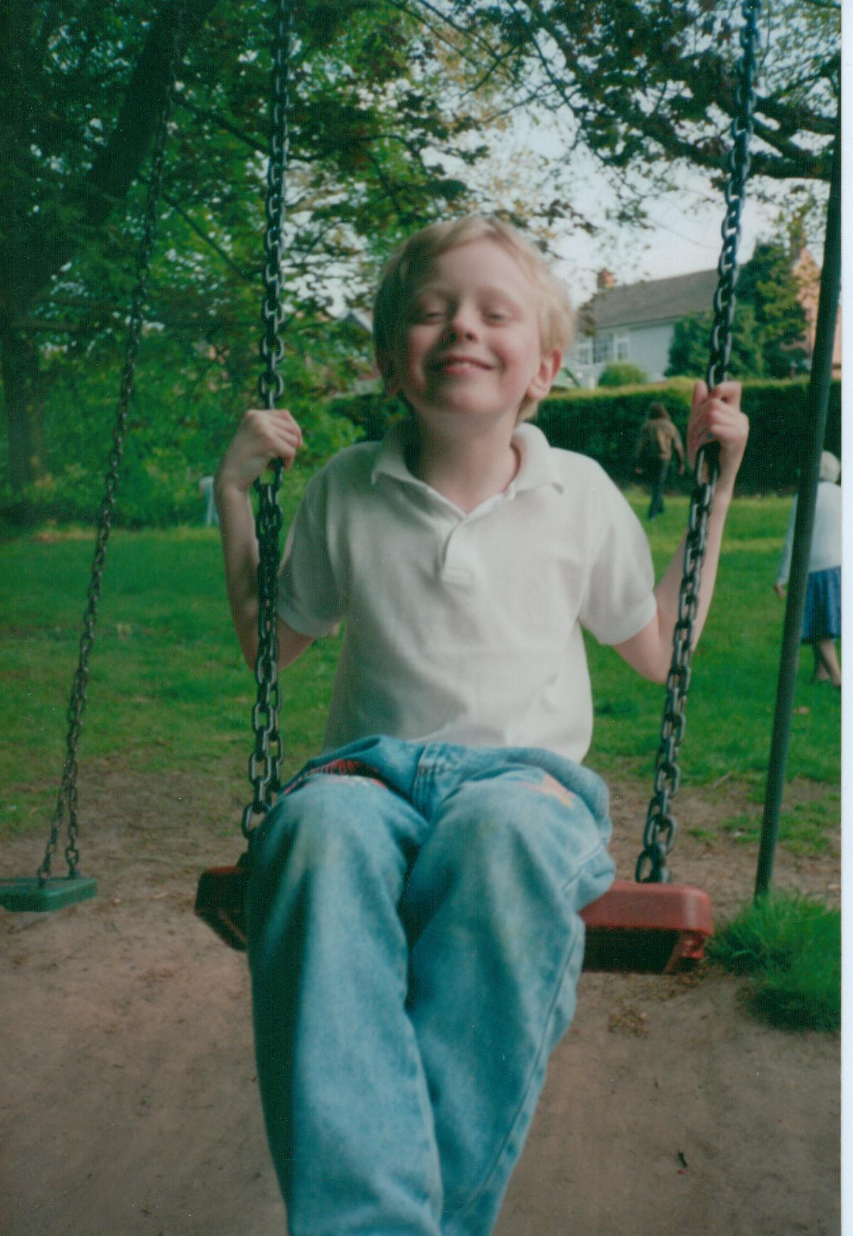 I guess I was a bright child, in my own way. Even though today, that smile alone is enough for an Asperger's diagnosis.