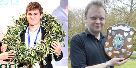 The man on the left is Magnus Carlsen, world chess champion. He has passion, enthusiasm and talent. The man on the right is Captain Quirk. He has an autistic obsession.