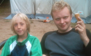And on the right, me at 20. Because any excuse. (Oh, and yes- any pictures here of individual children are shared with the permission of the camp staff and the children and/or parents. Because, you know, I'm not stupid.)