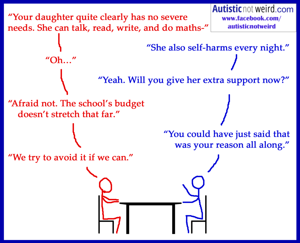"""my response to """"you're not really autistic, are you?"""" - autistic not"""